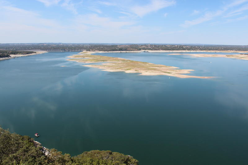 Lake Travis remains low due to dry conditions in April, despite the rains we received in March.