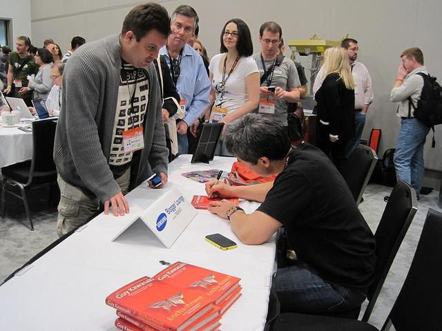 SXSW festival attendees at a book signing