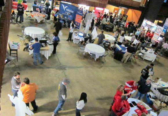 Companies paid $1,900 a table for the two-day Tech Career Expo at SXSW.