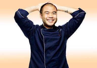 A smiling Paul Qui basks in his Top Chef win.