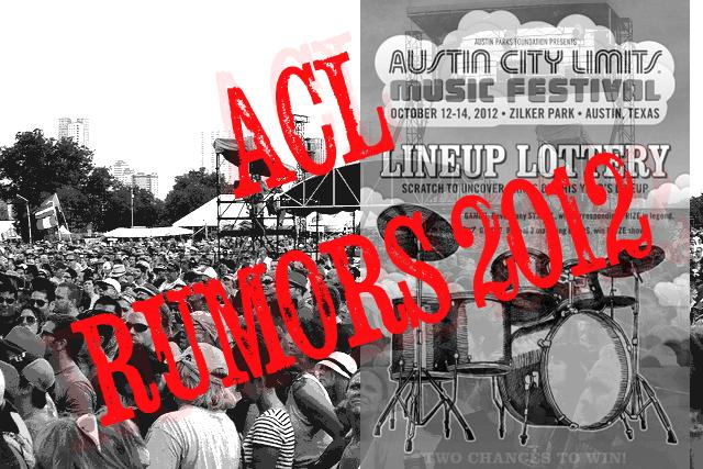ACL headliners will be announced tomorrow, but that hasn't stopped fans from speculating.