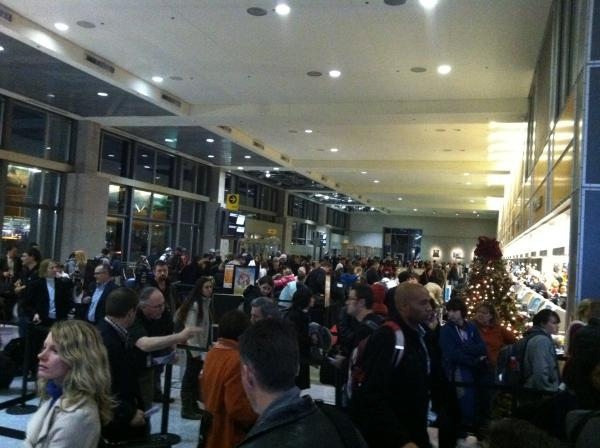 Passenger traffic is up this year at ABIA, and this year's holiday traffic is no exception.