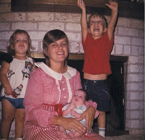 Writer Liz McGuire's mother Garland with Liz and her brothers. Liz says her mother had three children in 3 1/2 years and always seemed to embrace the chaos of a growing family.