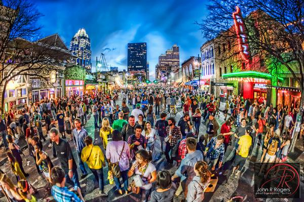 This HDR shot of SXSW 2012 maaaaaybe begins to capture the insanity downtown.
