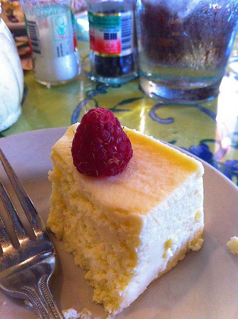 Like this gluten-free mascarpone cheesecake from Enoteca on South Congress.