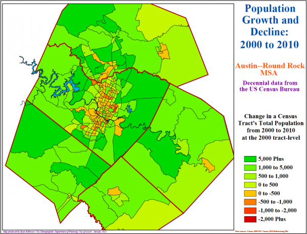 The Central Texas region has seen dramatic population shifts in recent years.