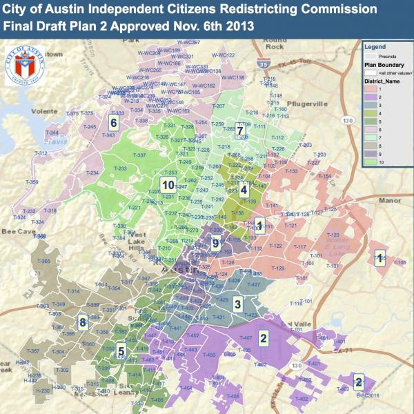 A new map of Austin's proposed council districts is ready for input, before final adoption later this year.