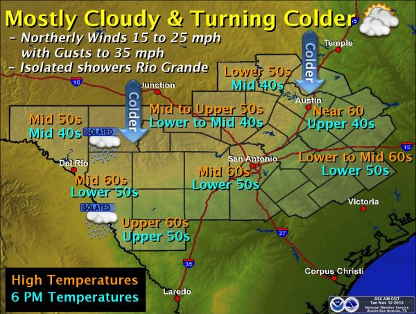 Austin and Central Texas are under a freeze warning from midnight to 9 a.m. Wednesday.