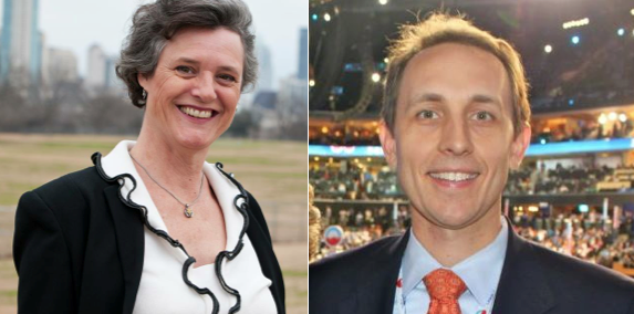 Sarah Eckhardt and Andy Brown have begun their final push to next week's election.