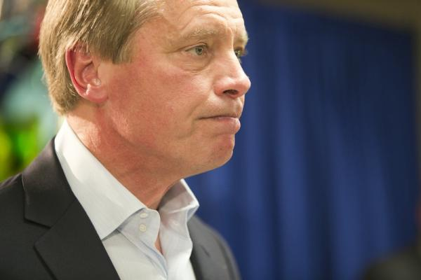 Lt. Gov. David Dewhurst during his concession speech after losing his reelection bid to Sen. Dan Patrick.