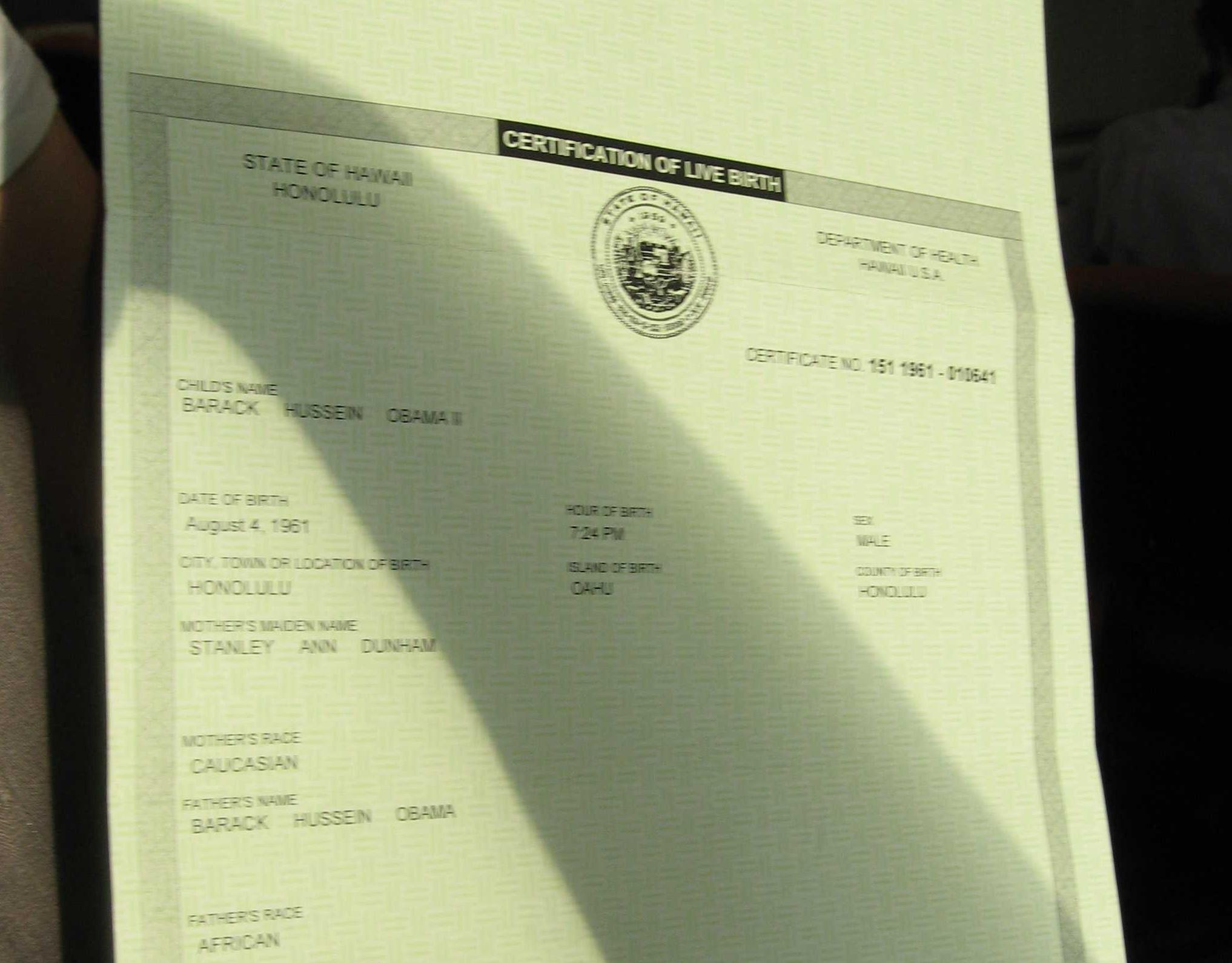 Texas state rep still doubts obama was born in the usa kut a copy of president obamas birth certificate aiddatafo Gallery