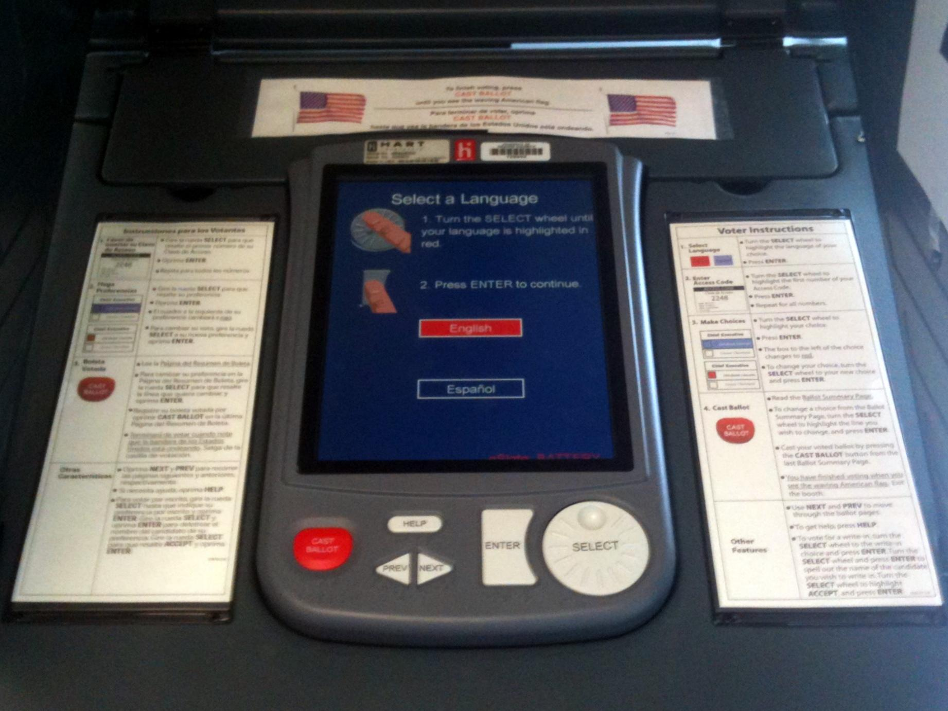 Image result for texas voter machines