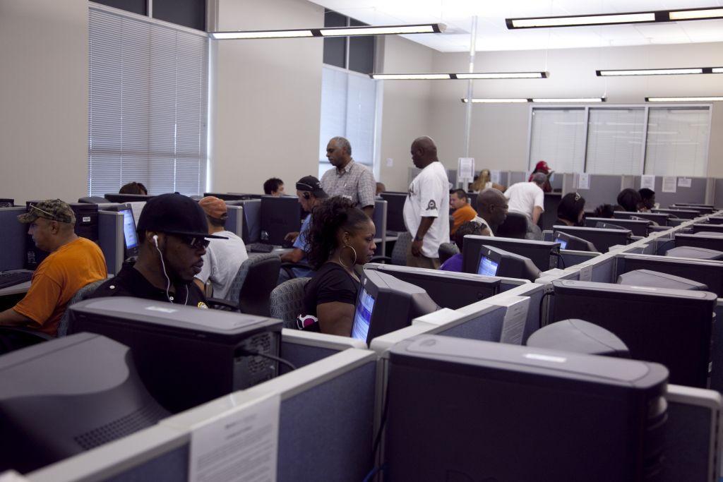 Unemployment commission office
