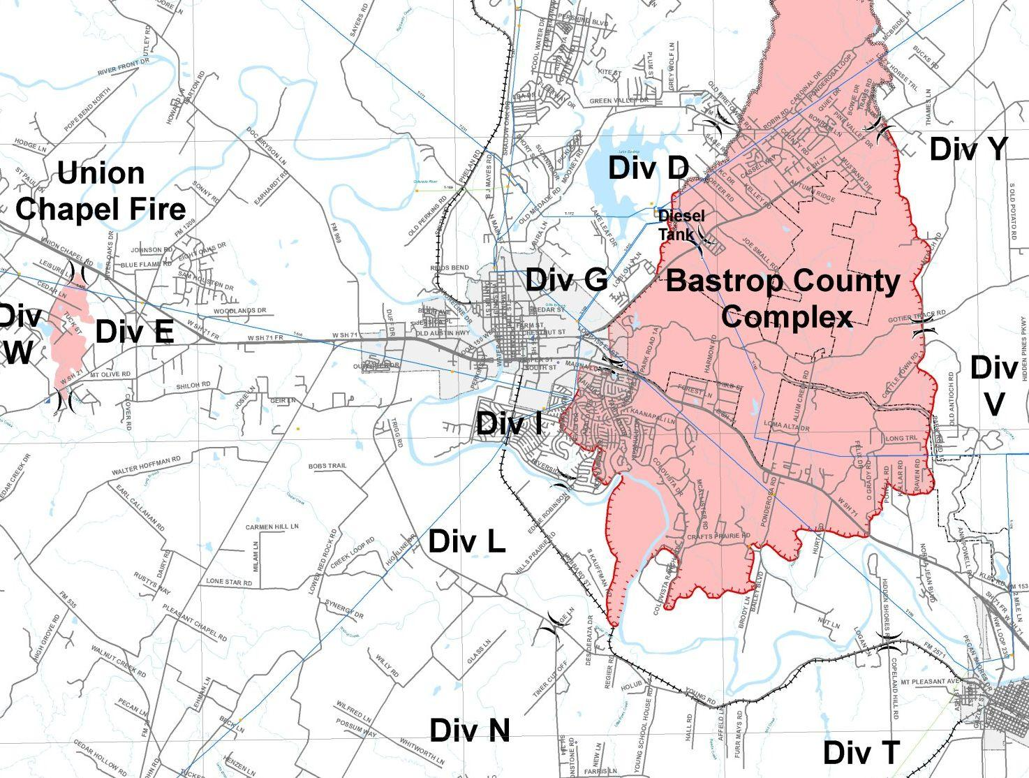 Bastrop County Releases New Fire Map | KUT