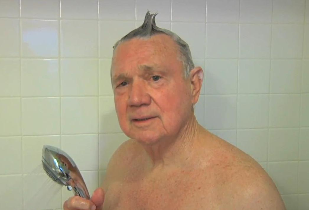 Old Men In Showers
