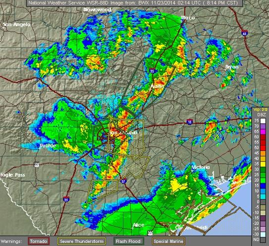 Saturday Afternoon: Flash Flood Warning in Effect for Parts of