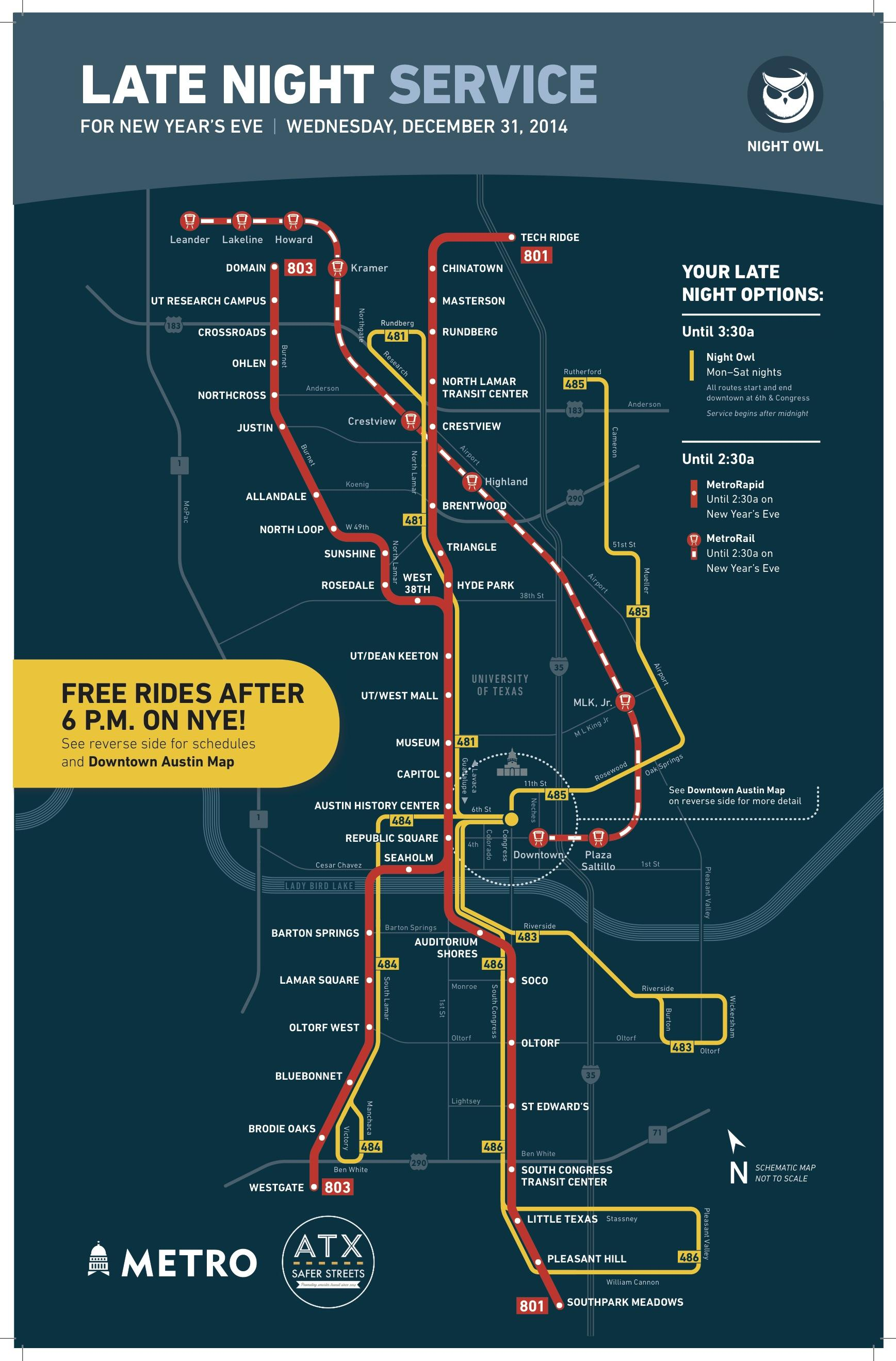 Eve 6 Bring The Night On New Years Eve Late Night Service Map Brochure