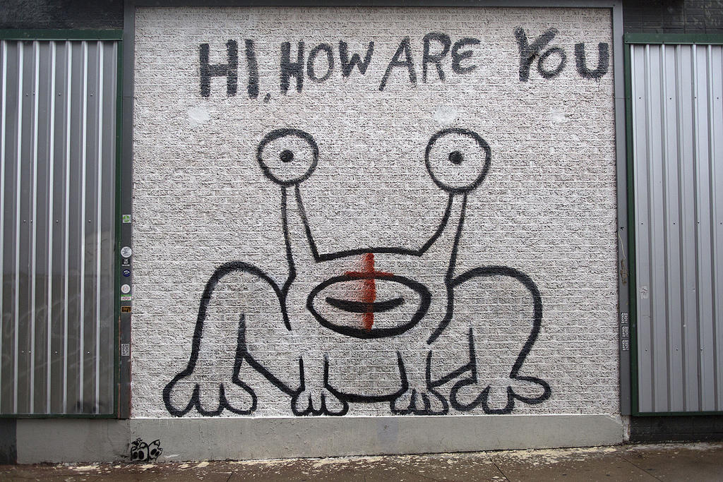 Is austin really still keeping it weird kut for Daniel johnston mural