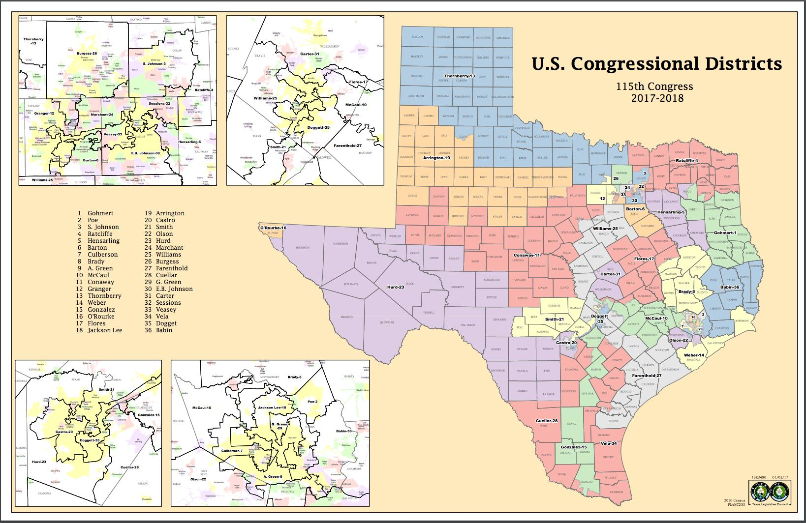 Congressional District Map Texas