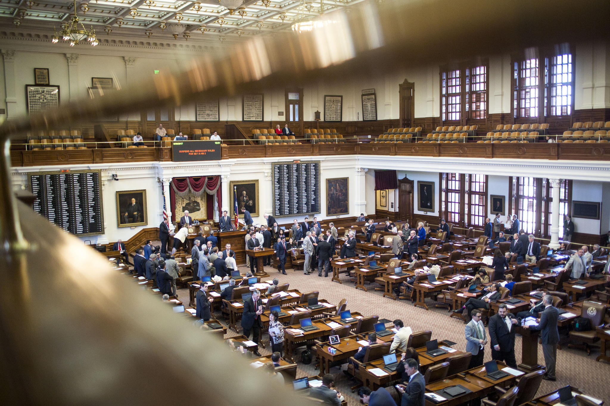 Lawmakers On The Floor Of The Texas House.