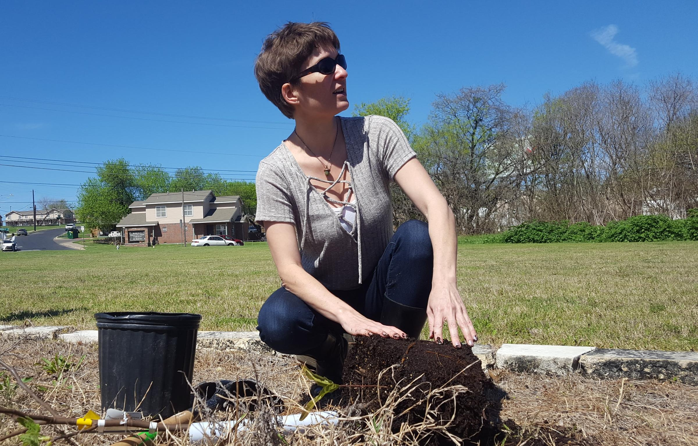 Emily King with the City of Austin's Urban Forestry Department.
