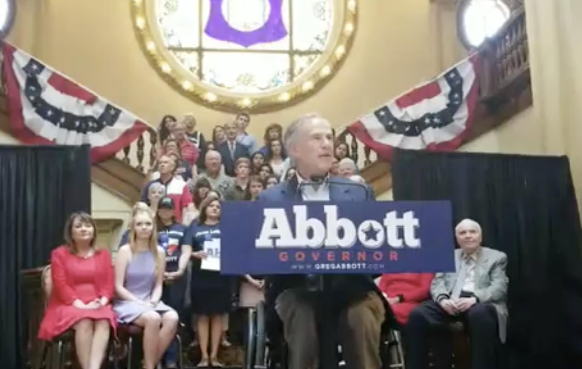 Abbott to detail Texas 'vision' during campaign announcement