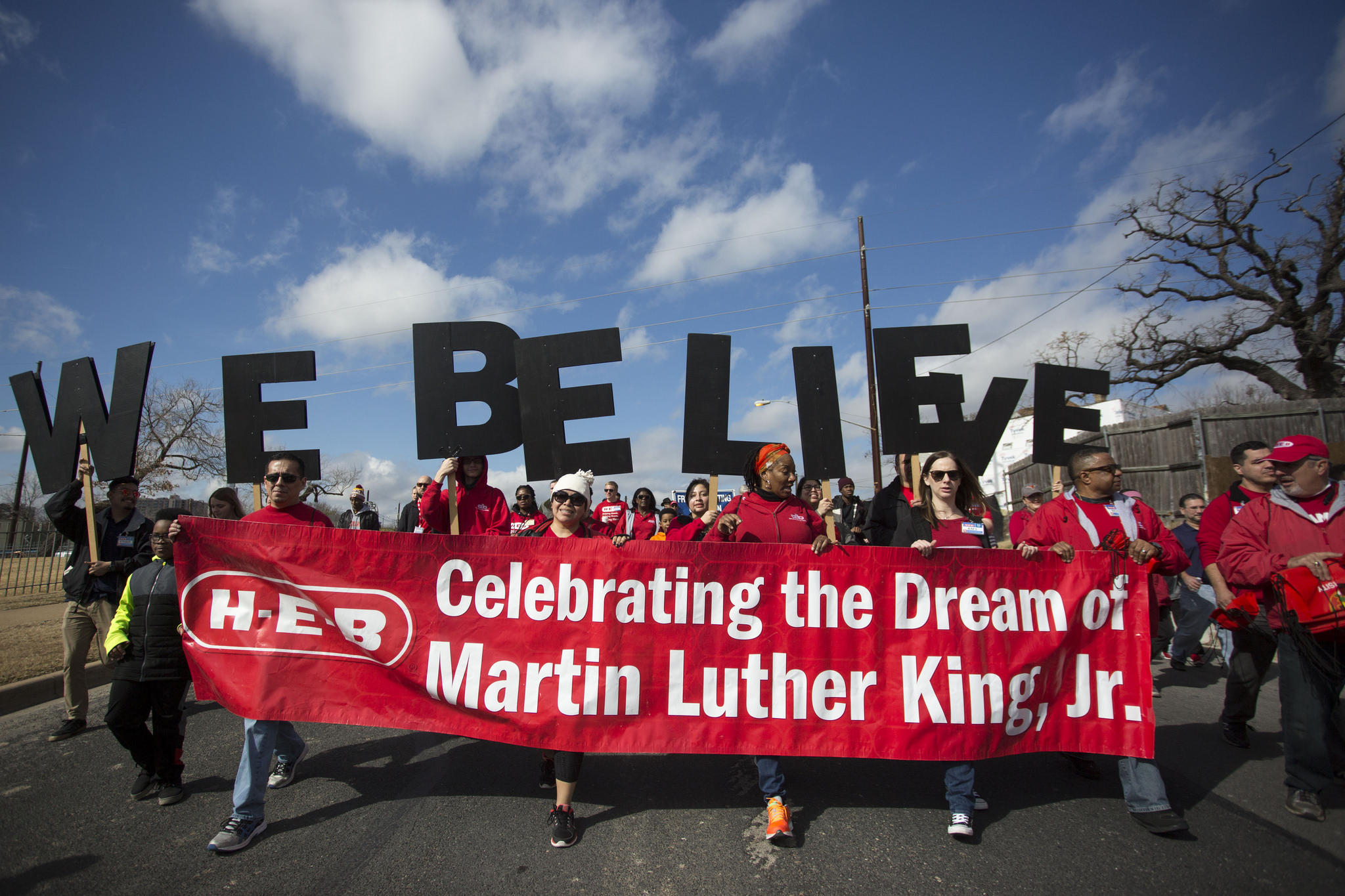 photos austinites march to remember martin luther king jr kut