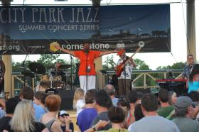 Hazel Miller performing at City Park