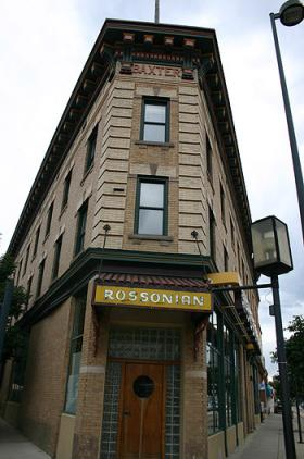 a landmark hotel at 27th and Welton, The Rossonian