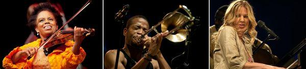 Pledge today for tickets to see Regina Carter, Trombone Shorty or Diana Krall