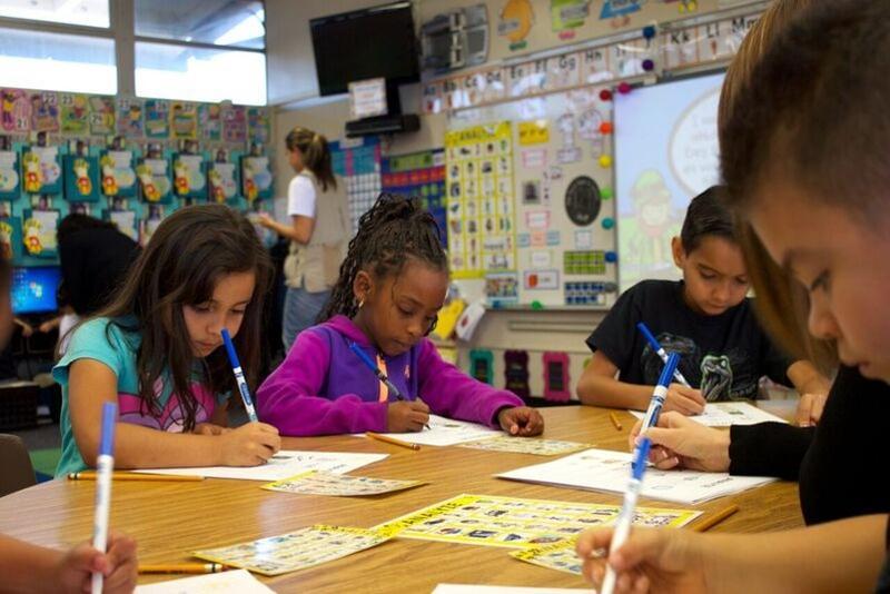 Children working on the ANALYZE Chart.