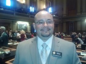 Freshman lawmaker Joseph Salazar-D, Thornton.