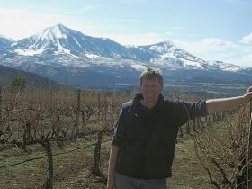 Brent Helleckson in his vineyard on Garvin Mesa