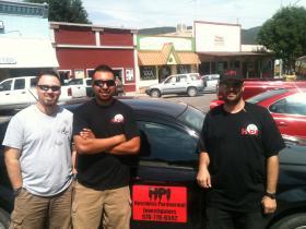 (L-R) Christian Eggstaff, Hector Zeferino and Seth Davis of Hotchkiss Paranormal Investigators