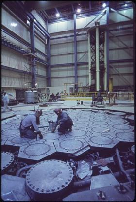 Refueling floor at the St. Vrain Plant in Platteville, Colorado