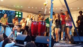 Afrolicious with audience members onstage