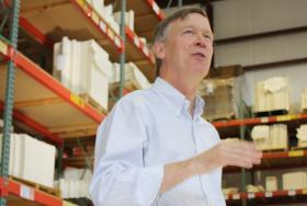 Governor John Hickenlooper during a tour of DIP in Delta