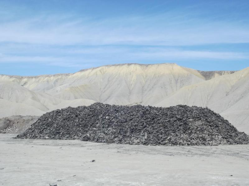 This is what 725 tons of shredded tires looks like. Landfill manager Kevin Hunt estimates that employees have already used about 10 tons of the stuff as daily cover.