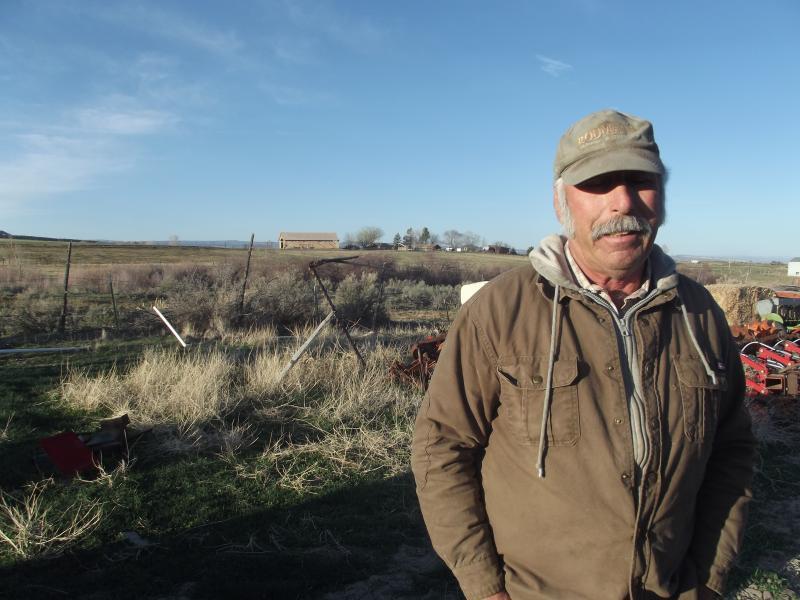 Judd Rodman on his land south of Paonia on Stewart Mesa.