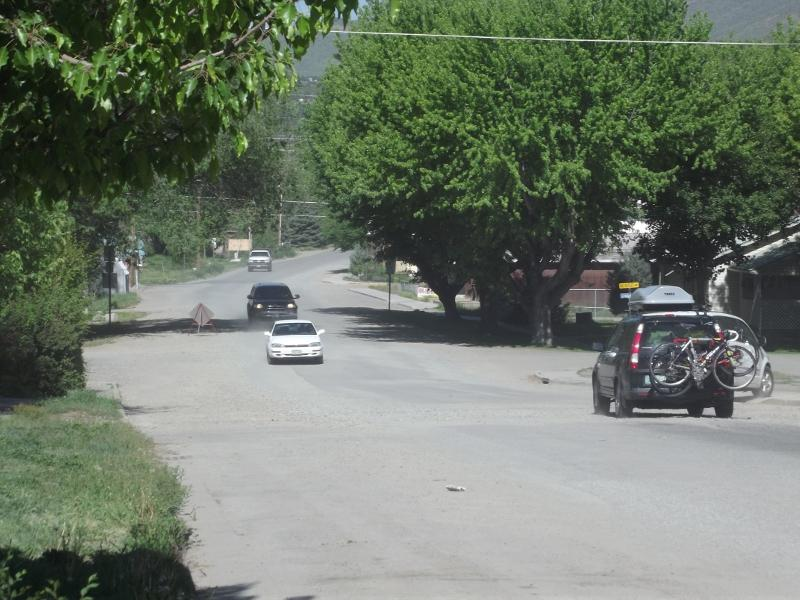 Third Street from Grand Avenue to the Paonia Public Library is bumpy and dusty. Broken sewer pipes were repaired beneath the road, and the Town is getting bids for patching, repaving or possibly using concrete to repair the street.