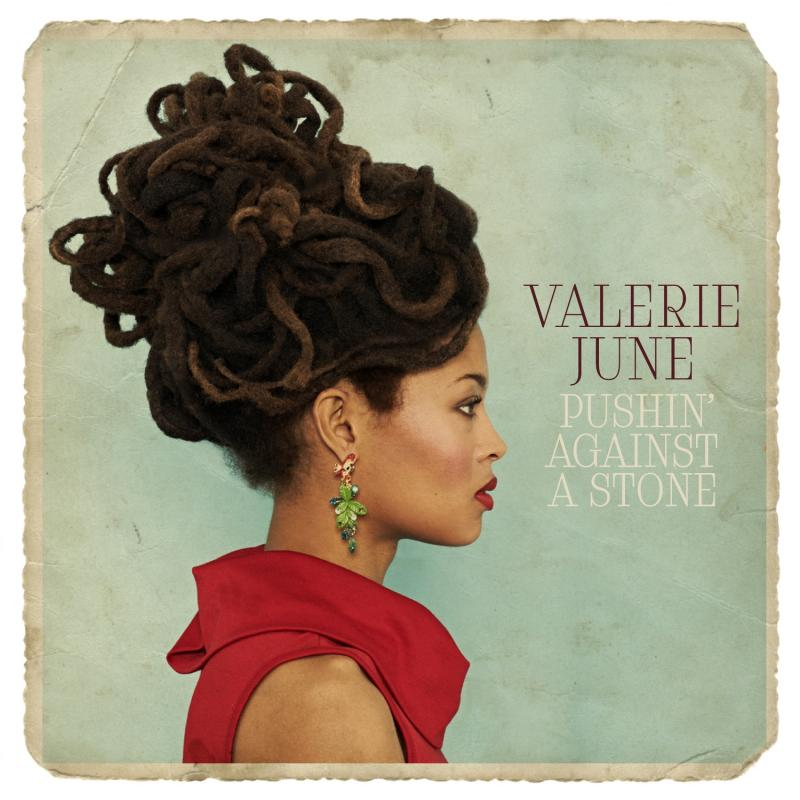 "<font color=""red""><strong>Valerie June/Pushing Against A Stone/Concord</strong></color><font color=""black""><br>With Dan Auerbach on the production team & Booker T guesting on Trak 2, the ""star in waiting"" debuts with a Blues/Gospel/Folk beauty!</color>"