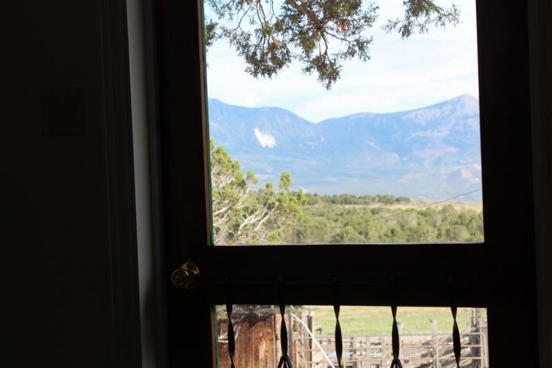 A few of Mt. Lamborn from the bunkhouse door