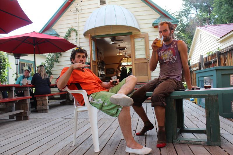 Druu Katana and Ryan Strand at Revolution Brewing in Paonia
