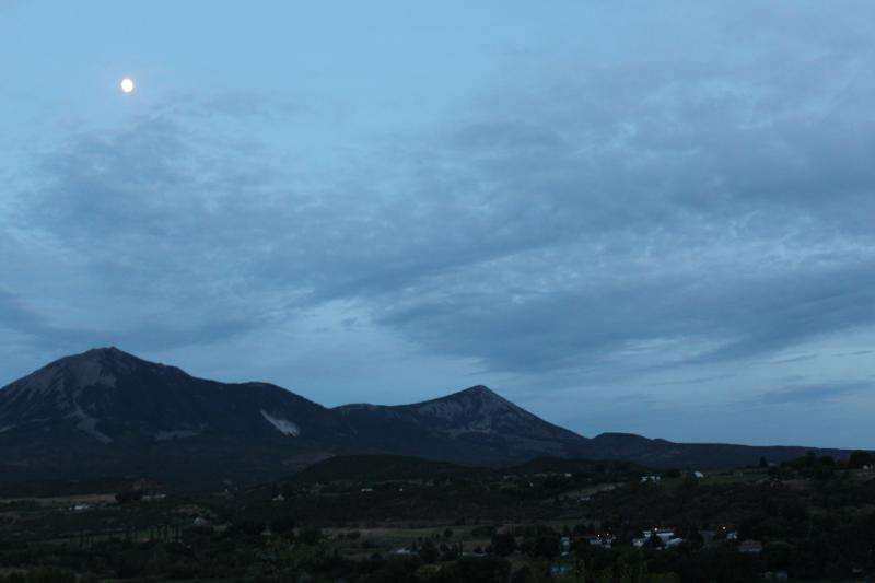 Mt. Lamborn at dusk