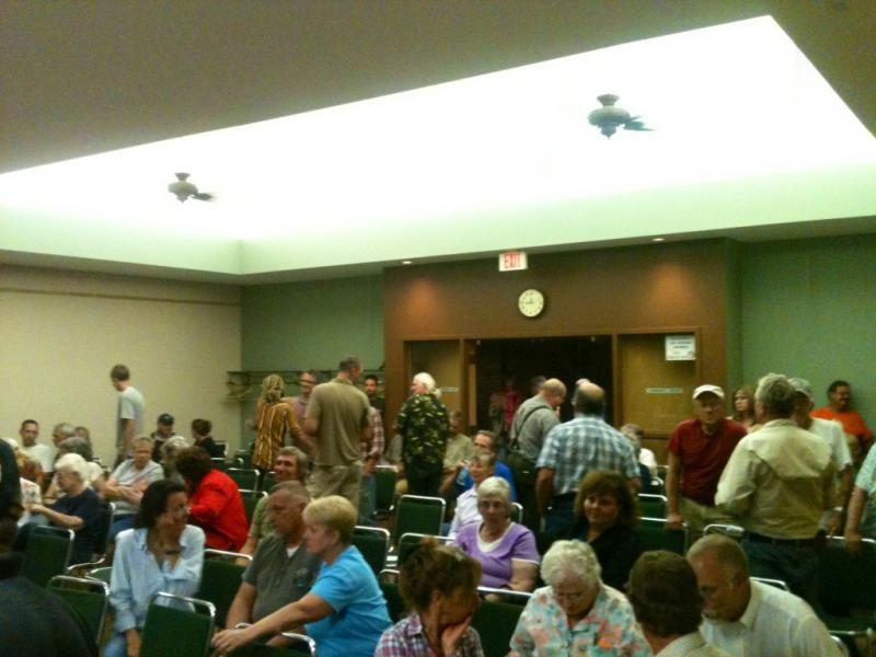 Residents opposed to commercial marijuana fill Town Hall for Tuesday night's council meeting