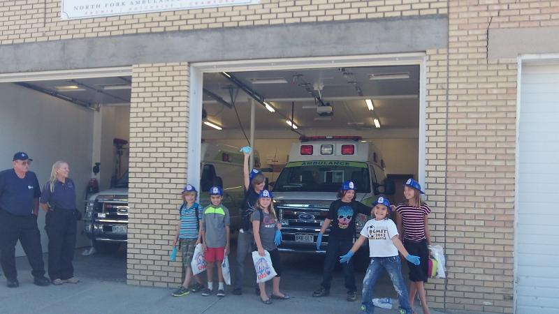 Youth reporters visit the North Fork Ambulance station