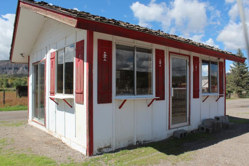 Concession shack at the Ouray County Fairgrounds