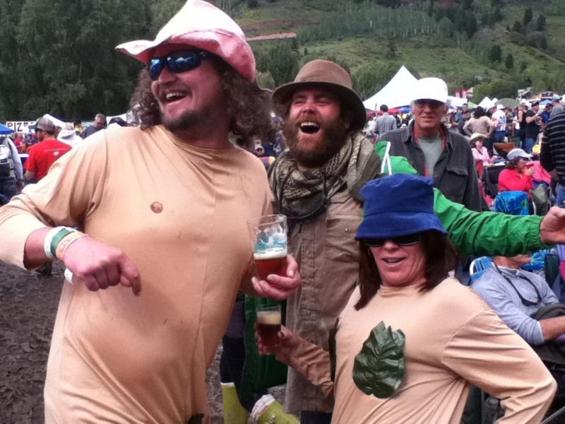 Festival Goers in Costume