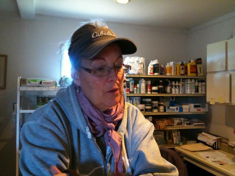 Susan Raymond in her vet office