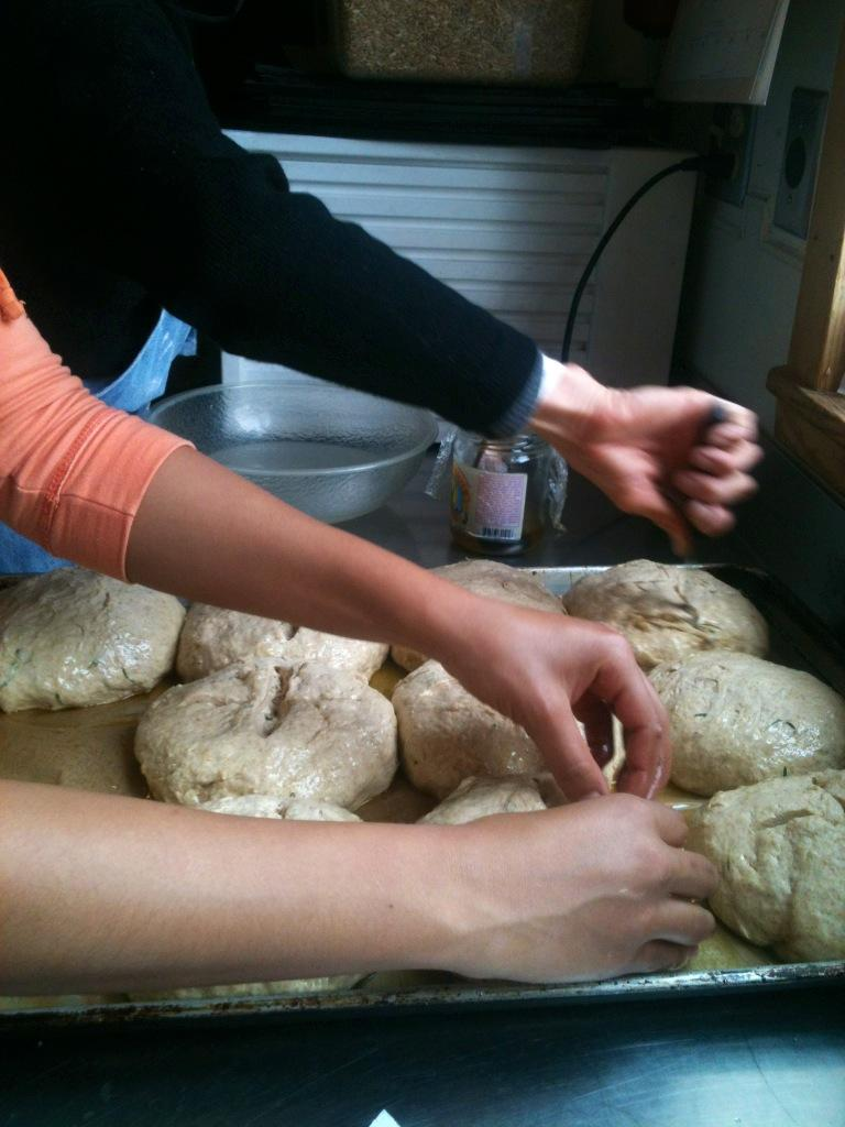 Preparing naturally-leavened bread